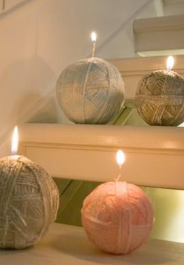 Candle big wool ball