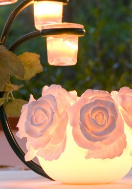 Boule Candle With Rose.