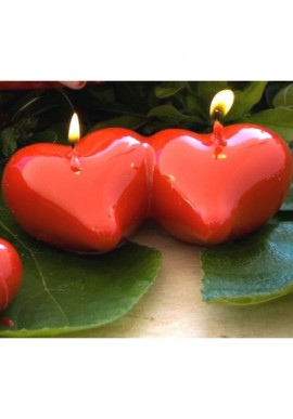 Candle double heart