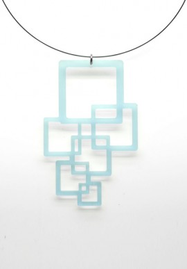 Necklace Plexiglass cubes