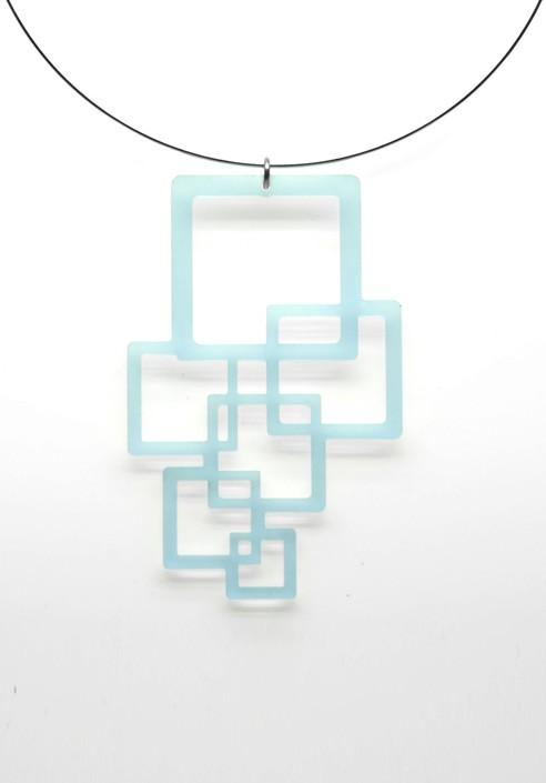Necklace Plexiglass cubes