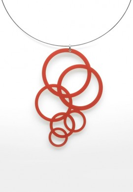 Necklace Plexiglass circles