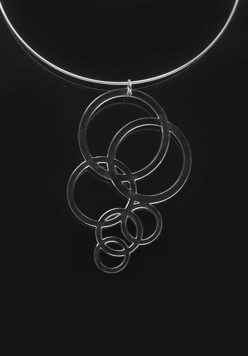 Necklace Plexiglass circles