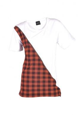 T-shirt bianca e nera