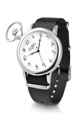 Orologio Renzo in metallo con cinturino pelle