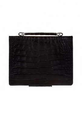 Borsa 2T Black Crocodile