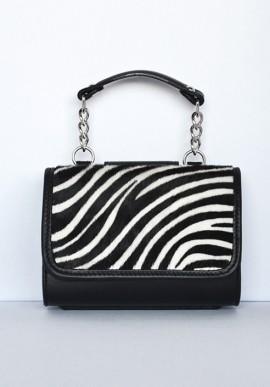 Pochette MiniME Safari bianca/nera