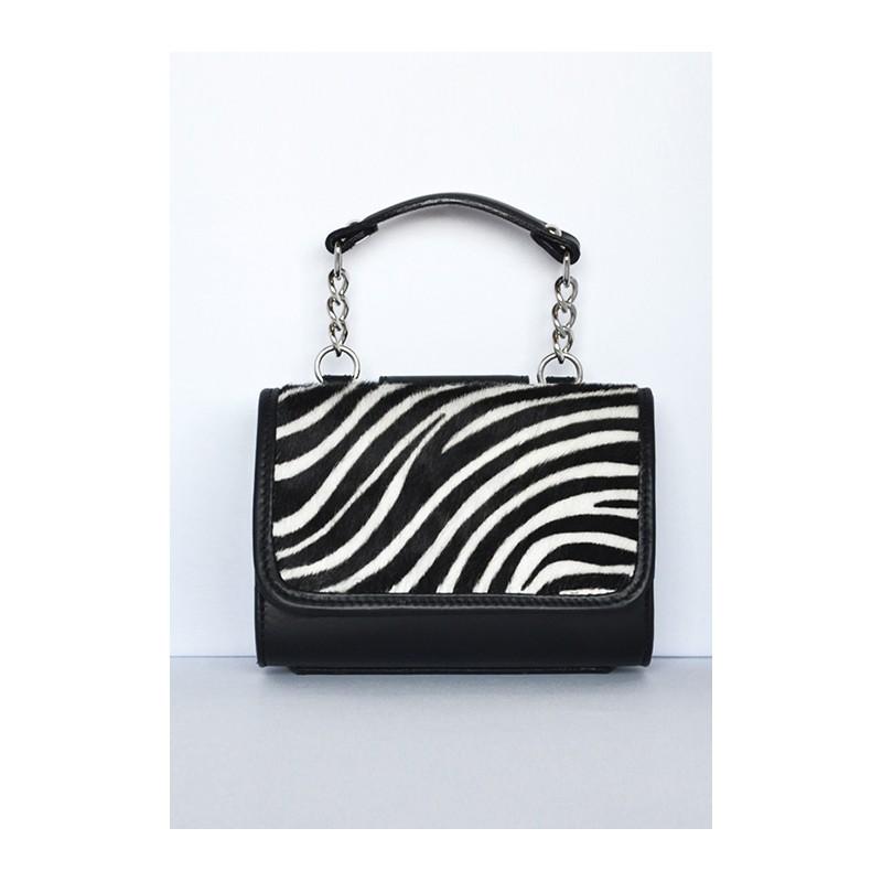 76b65e9682 Pochette MiniME Safari Zebrata bianca e nera. Made in Italy | Dezzy.it