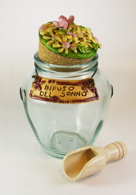 Herb tea jar
