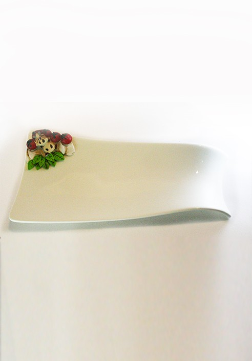 Appetizer plate + Spoon holder