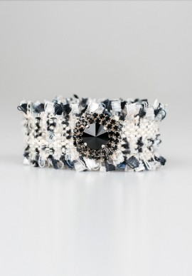 "Bracelet ""Hippie Chic"" black/white"