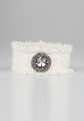 White bracelet with strass