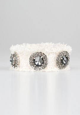 White bracelet with stones and strass