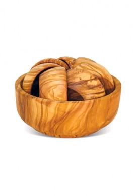 Sets wooden bowls