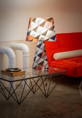 "Fabric lamp -T-Light ""La Rock"""