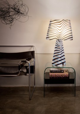 "Fabric lamp -T-Light ""L'esagerata"""
