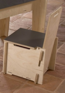 Children chair with board plate