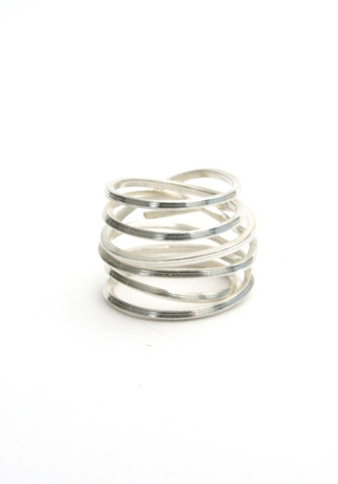 uk napkin amazon dp rings ring set silver co kitchen of home spiral
