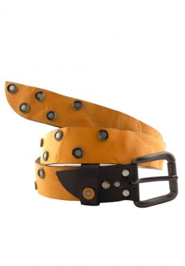 Belt yellow leather