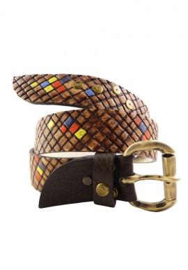 Cintura in pelle colore rossa