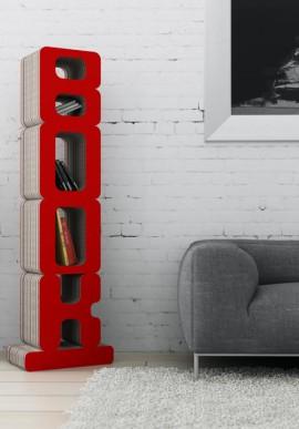 Libreria in cartone ondulato