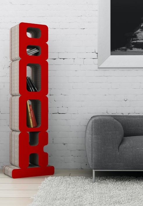 Libreria in cartone odulato | Made in Italy