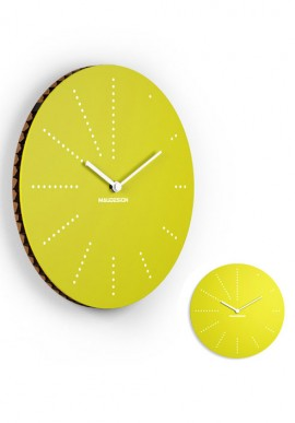 Yellow Cardboard Clock