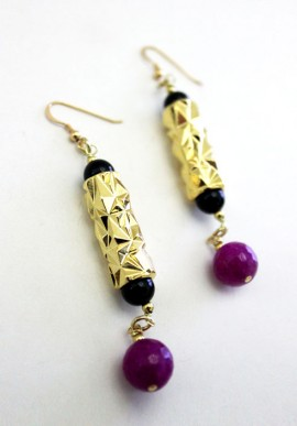 "Onyx Earrings ""Alcazar"""