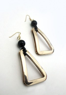 "Onyx Earrings ""Delta"""