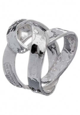 "Silver braided ring ""Love Nes"""