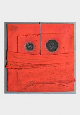 Presenze, 50x50. Artista: Claudio Brunello